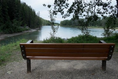 Spot for peaceful contemplation on the Bow River